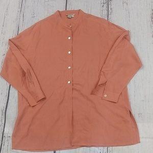 Ann Taylor Silk Tunic Length Blouse